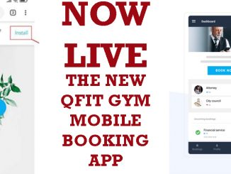 QFit Mobile Booking App