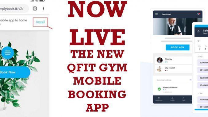 QFit Mobile Booking App
